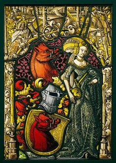Medieval stained glass. Via Getty Publications
