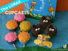 Dr. Seuss Lorax Cupcakes :: Instructions on HoosierHomemade.com  idea craft crafts inspiration gifts bday tutorial desserts family birthday