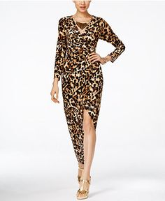 Thalia Sodi Embellished Printed Wrap Maxi Dress, Only at Macy's - Dresses - Women - Macy's