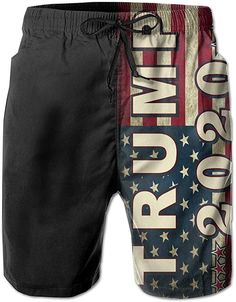 Youth /& Mens American Flag Board Trump 2020 President Customized Graphic Swim Trunks Beach Game Gifts Sports Swimming Shorts