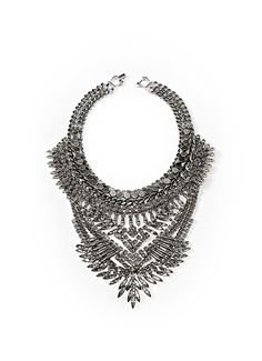 RILEY necklace  – by DYLANLEX $710!! Layers of intricate chain, handcrafted ethnic elements, blended with mixed almond and princess Swarovski crystals - this piece is the perfect combination of sexy and cute.
