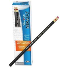 Paper Mate Mirado Classic Black Pencils with Eraser ($14) ❤ liked on Polyvore featuring home, home decor, office accessories, paper mate erasers, ebony pencil, paper mate, coloured pencils and paper mate pens
