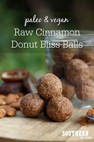 Raw Vegan Cinnamon Donut Bliss Balls Recipe - paleo raw balls, energy balls, protein balls, healthy, gluten free, grain free, sugar free