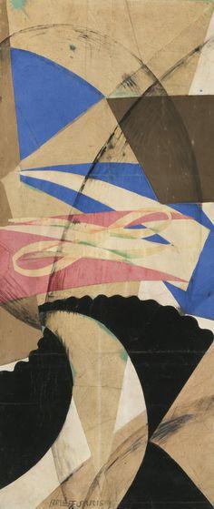 Giacomo Balla 1871 - 1958 FOLLA + PAESAGGIO (CROWD + LANDSCAPE), 1915