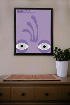 Monster's Inc. / Randall / Poster by UrbanDinosaur on Etsy, $18.00