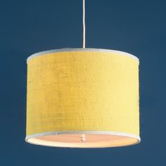 Check out Colorful Burlap Drum Pendant from Shades of Light