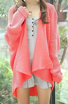 Bright slouchy knits.