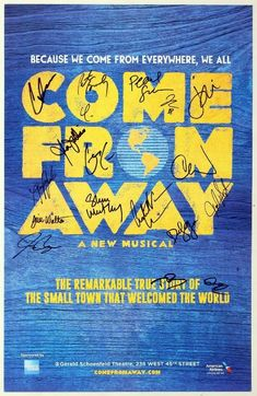 [DISCOUNT] $102.5 COME FROM AWAY Full Cast Jenn Colella, Chad Kimball Signed Poster #Theater_Posters_for_Sale #Movie_Posters_for_Sale #Theatre_Memorabilia_for_Sale Full Cast, It Cast, Come From Away, Movie Posters For Sale, Theater, Musicals, Comics, Theatre, Comic Book