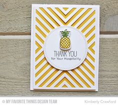 Handmade card from Kimberly Crawford featuring the Birdie Brown Polynesian Paradise stamp set and the Four Way Chevron Cover-Up Die-namics