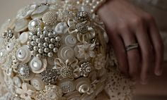 The Duchess Button Bouquet by LillybudsBouquets on Etsy, $475.00