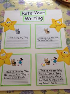 A Rate Your Writing poster