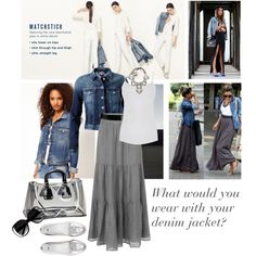 What would you wear with your denim jacket?