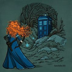 """""""A New Fate"""" Doctor Who / Princess Merida from Brave #disney #doctorwho"""