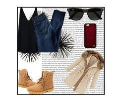 """""""Simple"""" by cassidy-vn ❤ liked on Polyvore featuring STELLA McCARTNEY, 7 For All Mankind, Ray-Ban and Wildflower"""
