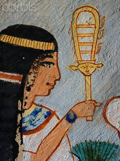 Painting of Tawy in the Tomb of Roy
