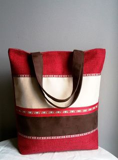 Large red shoulder bag gift idea for a loved one by IrisBags
