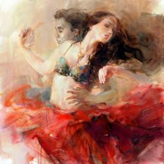 Completion - Anna Razumovskaya Original, I love the way she captured their movement.