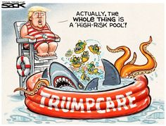 Steve Sack - The Minneapolis Star Tribune - Trumpcare Pool - English - Trumpcare,ryancare,ahca,repeal,replace,obamacare
