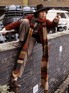 Love him!  And the scarf!