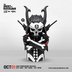 "SpankyStokes.com | Vinyl Toys, Art, Culture, & Everything Inbetween: Quiccs × FlabSlab's ""The Ghost of Kurosawa"" art collectible bust release!"