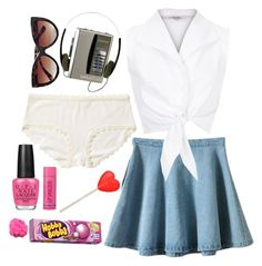 """""""You Sure You're Only 14?"""" by doe-eyed-nymphet ❤ liked on Polyvore featuring Retrò, Boohoo, Monki, OPI, nymphet, nymphetfashion and thecrush"""