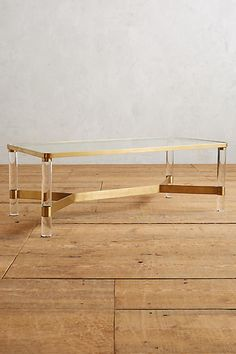 Oscarine Lucite Coffee Table, Rectangle - anthropologie.com