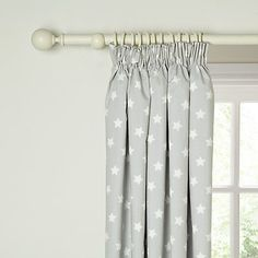 Little Home At John Lewis Star Pencil Pleat Pair Blackout Lined Children S Curtains