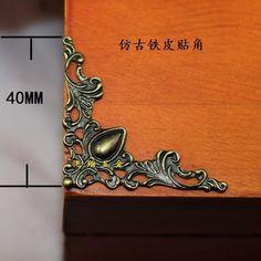 Antique / TiN / Side Trim / Bronze Fillet, 100Pcs/Lot