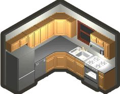 Small kitchen layout - just what I need!!! With dishwasher, please!!!!