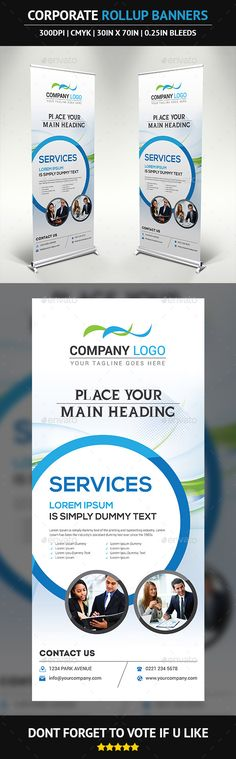 Corporate Rollup Banner Template #design Download: http://graphicriver.net/item/corporate-rollup-banner/9975544?ref=ksioks