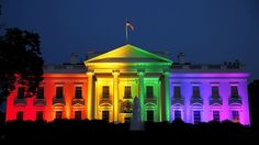 The white house in rainbow colours after the courts judgment on equal rights on 06/27/2015
