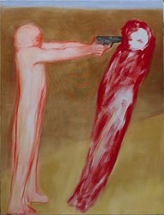 Miriam Cahn erschiessen, 2013 oil on canvas 185 x 140 cm