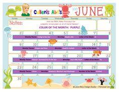 Cullen's Abc's Free Online Preschool Calendar | June 2013  http://online-preschool.cullensabcs.com/category/preschool-calendars/
