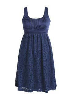 adorable bridesmaid dress option in navy... lacy and adorable at a price that can't be beat - $34.50 @ delia*s