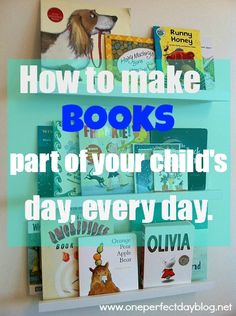 Reading  ::  Simple ways to encourage a love of books and make reading a part of every day. How do you encourage a love of reading in your children?
