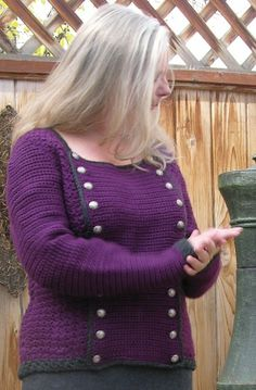 ~how cool is this! from cardi to pullover and back again~ Crochet pattern for convertible pullover by HipKittyDesigns, $5.95