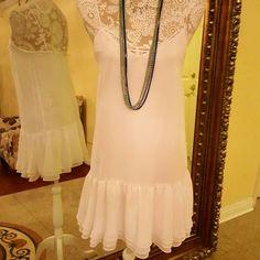 BCBG AMAZING WHITE DRESS As new Just adorable BCBG Dresses