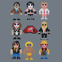 Rocky Horror Picture Show Perler Bead Characters magnet Set ...