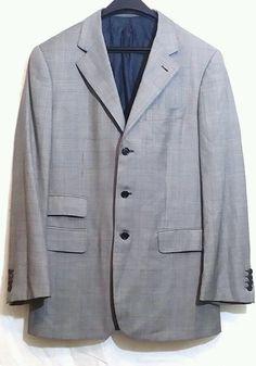 CIFONELLI Glen Plaid Gray 150's Wool 3-Btn Italian Blazer ready to wear line #Cifonelli #ThreeButton