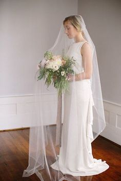 Full length drop veil | Rebekah Senter Photography