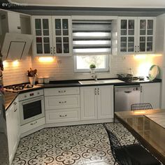 29 Trendy Home Design Kitchen Dining Rooms White Kitchen Cabinets, Kitchen Dining, Kitchen Decor, Dining Rooms, Interior Design Living Room, Living Room Designs, Küchen Design, House Design, Cuisines Design