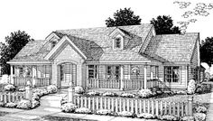 #655904 - 3 Bedroom 2.5 Bath Country Farmhouse with split floor plan and office : House Plans, Floor Plans, Home Plans, Plan It at HousePlanIt.com
