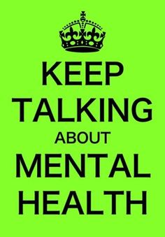 Mental health awareness. Too many are not talking about it and so many are suffering from it!