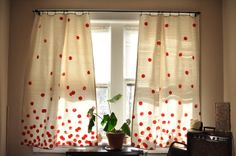 Hand painted curtains.