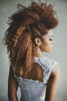 CurlsUnderstood.com: Modern Bride Frohawk