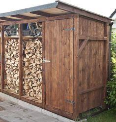Amazing Outdoor Firewood Rack and Storage Ideas Outdoor Firewood Rack, Firewood Shed, Firewood Storage, Shed Storage, Stacking Firewood, Firewood Holder, Storage Rack, Storage Ideas, Backyard Sheds