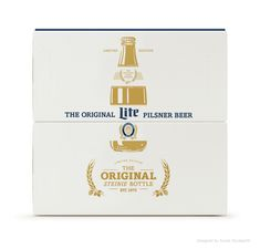Miller Lite Steinie Packaging and Visual Identity. Designed by Turner Duckworth.