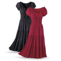 Crinkle Gauze Peasant Dress