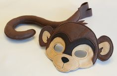 Maurice the Monkey Mask and Tail Pretend Play by HuntingFaeries