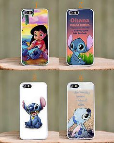 Lilo and Stitch Disney Cartoon Phone Cover Case fits Apple Iphone 4 4s 5 5s 5c 6